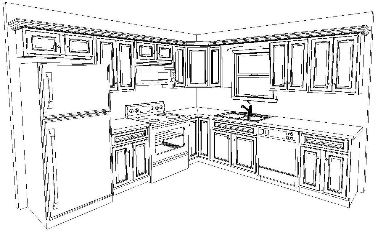Kitchen cabinets measurement design and layout malvernweather Gallery